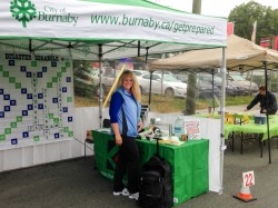 Photo of the City of Burnaby Emergency Program booth at the Edmonds City Fair