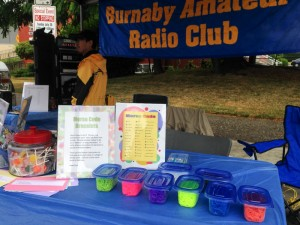 Photo of the Burnaby Amateur Radio Club booth at the Edmonds City Fair