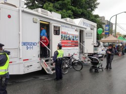 Photo of the Burnaby RCMP Emergency Command trailer