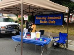 Photo of the Burnaby Amateur Radio Club booth at the Edmonds City Fair
